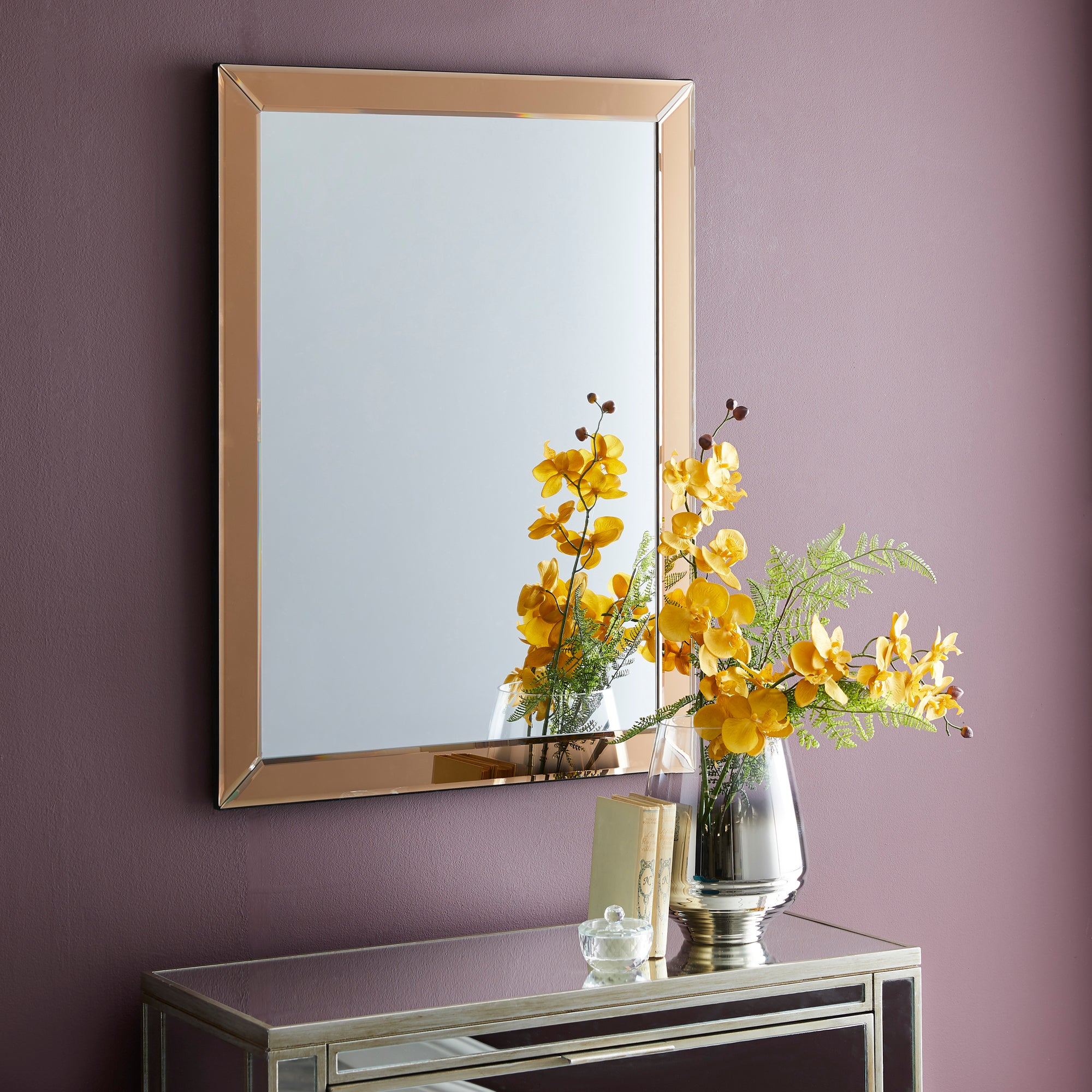 Click to view product details and reviews for Oram Wall Mirror 80x60cm Copper Copper.