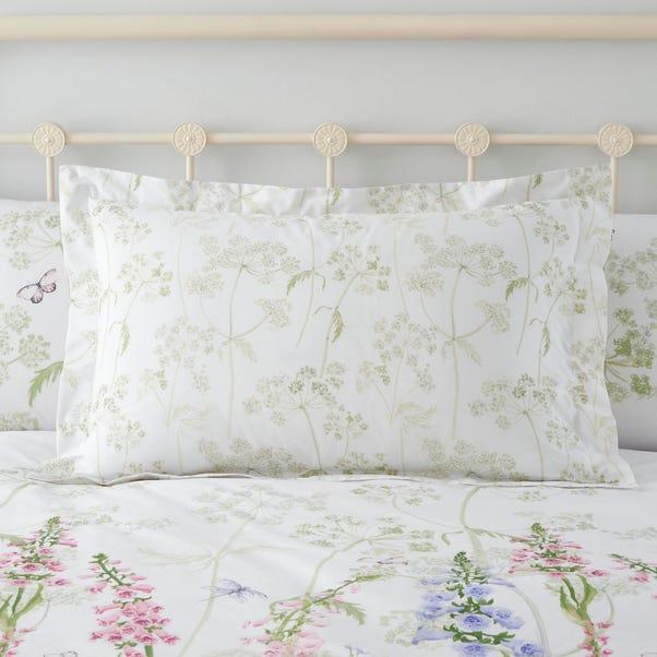 Felicity White Floral 100% Cotton Oxford Pillowcase White