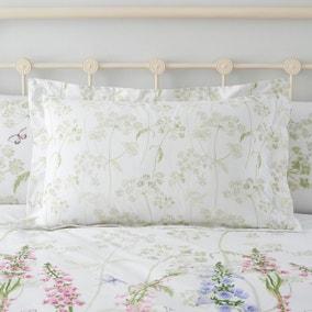 Felicity White Floral 100% Cotton Oxford Pillowcase
