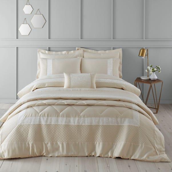 Bardot Cream Duvet Cover and Pillowcase Set  undefined