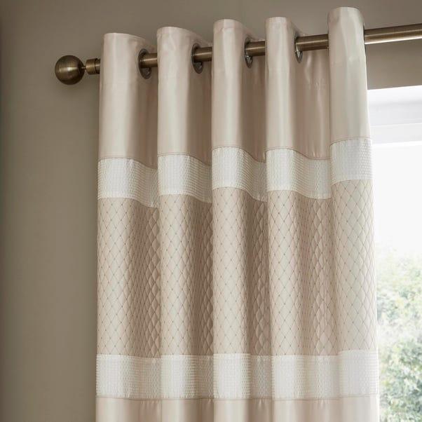 Bardot Cream Blackout Eyelet Curtains  undefined