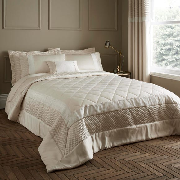 Bardot Cream Quilted Bedspread  undefined