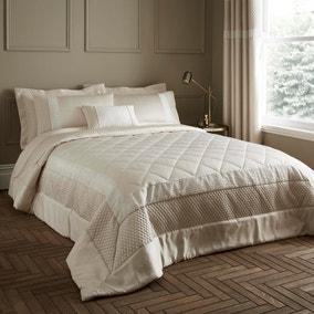 Bardot Cream Quilted Bedspread