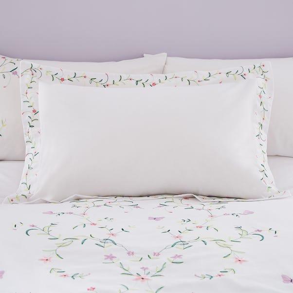 Sophie White Embroidered Oxford Pillowcase White