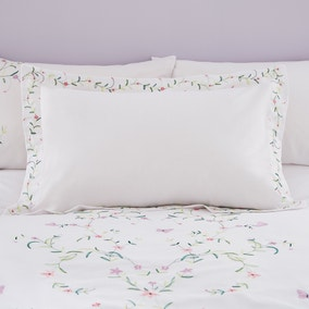 Sophie White Embroidered Oxford Pillowcase
