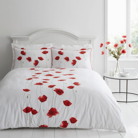 Poppy Trail Red Duvet Cover and Pillowcase Set Red undefined