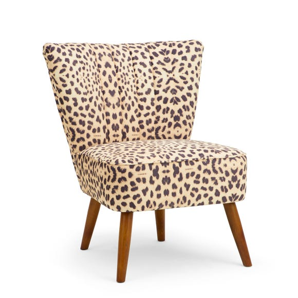 Rocco Leopard Print Cocktail Chair Leopard Print Rocco
