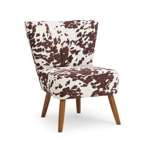 Rocco Cow Print Cocktail Chair