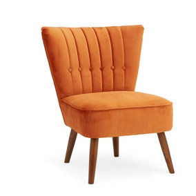 Isla Velvet Cocktail Chair - Orange