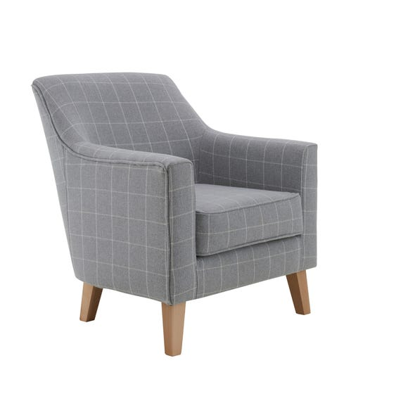 Aiden Chair Grey Check