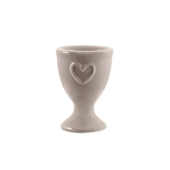 Country Heart Taupe Egg Cup Brown