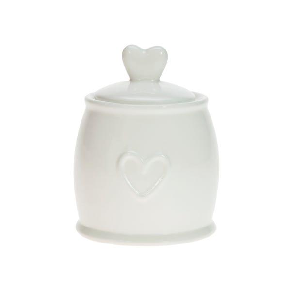 Country Heart Sugar Pot White