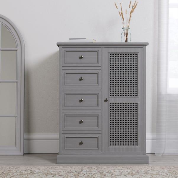 Lucy Cane Grey Compact Wardrobe Grey