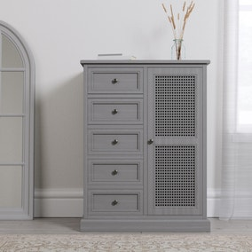 Lucy Cane Grey Compact Wardrobe