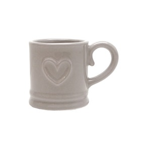 Country Taupe Heart Espresso Cup