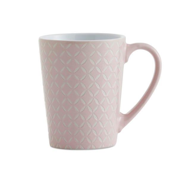 Set of 4 Pink Diamond Mugs Pink