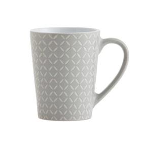 Set of 4 Grey Diamond Mugs