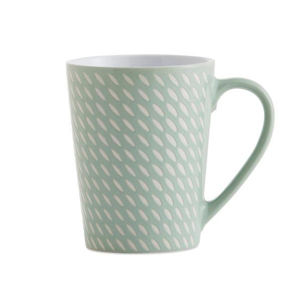 Set of 4 Mint Green Dash Mugs Green