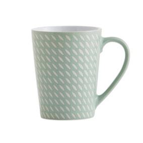 Set of 4 Mint Green Dash Mugs