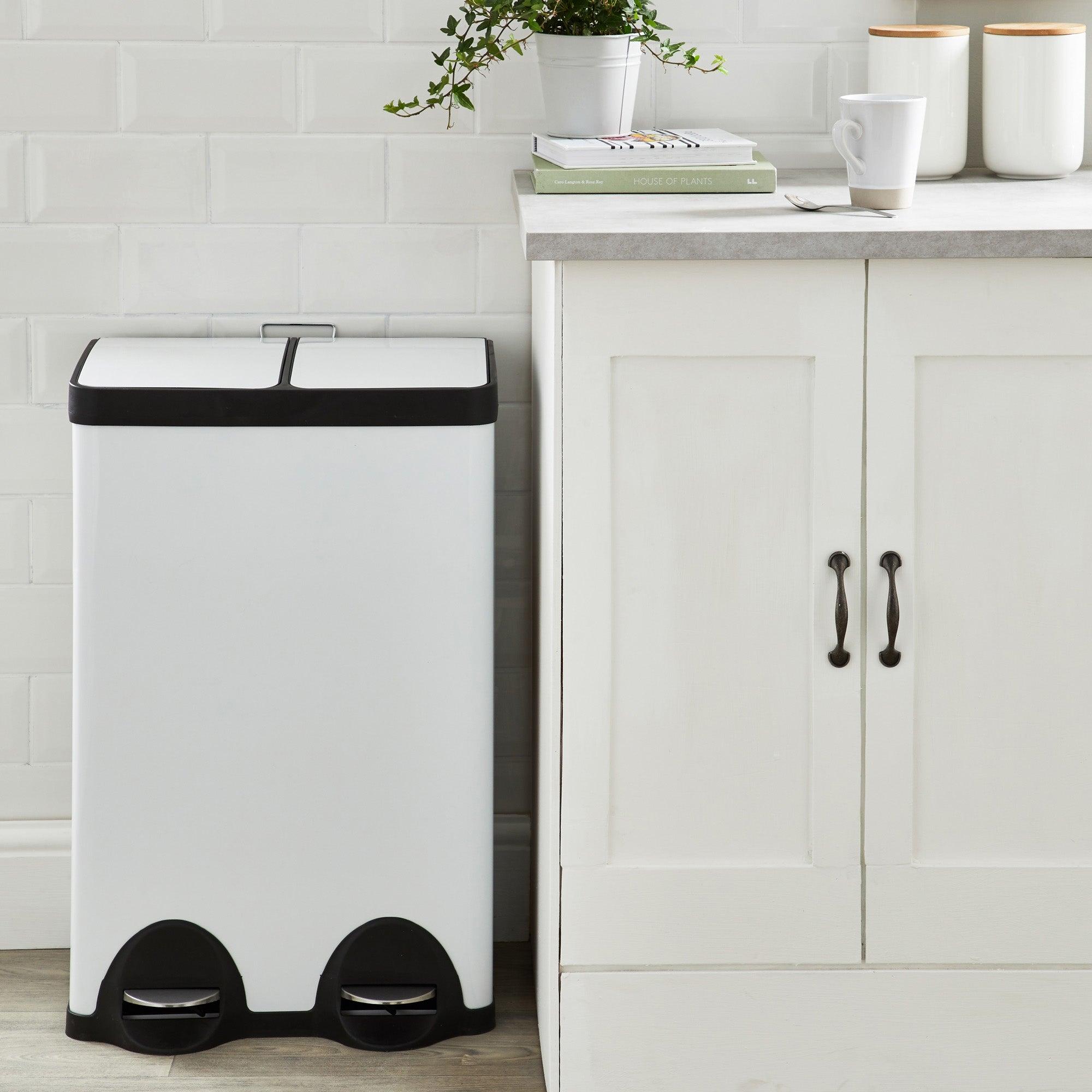 Dunelm 30/30 Litre White Recycling Bin White
