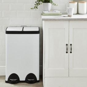 Dunelm 30/30 Litre White Recycling Bin