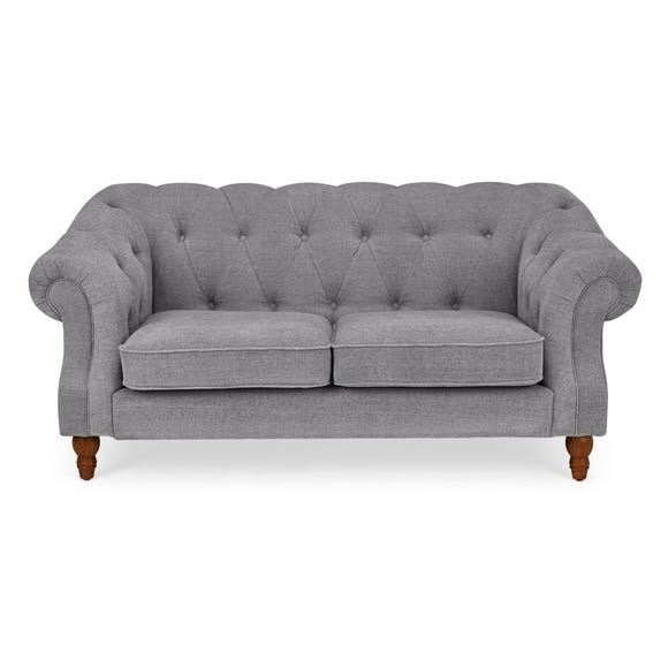 Aubrey Chesterfield 2 Seater Sofa Grey Aubrey