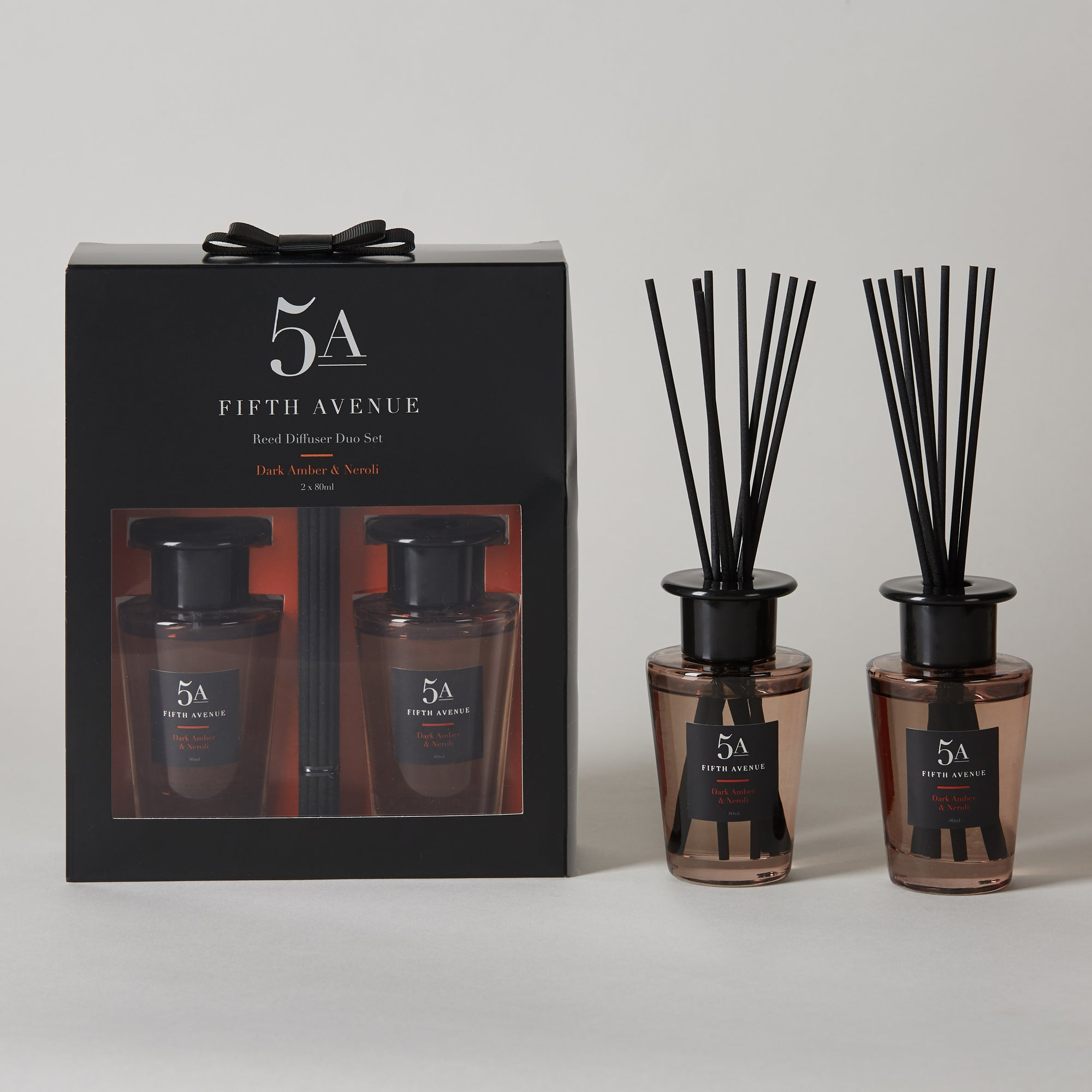 Click to view product details and reviews for 5a Fifth Avenue Set Of 2 Neroli And Amber Diffusers Black.