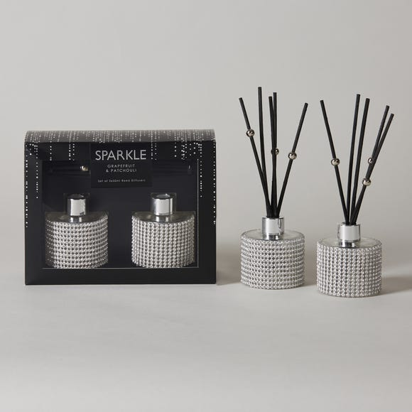 Bling Set of 2 Reed Diffusers Silver