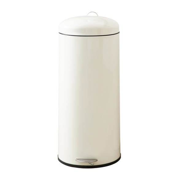 Cream 30 Litre Pedal Bin Cream