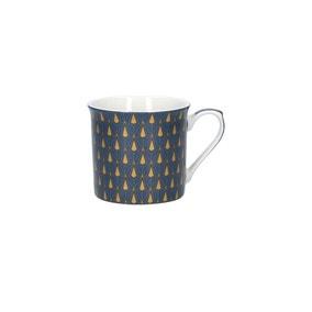 Geometric Blue & Mica Gold Mug