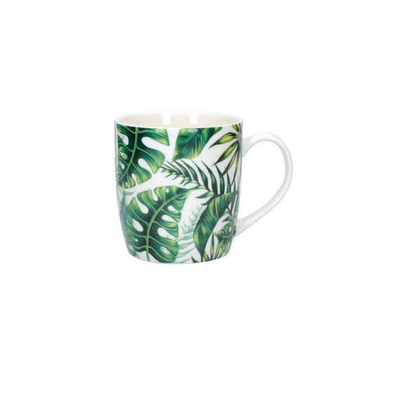 Palm Leaves Mug Green