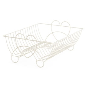 Wire Grey Hearts Dish Drainer