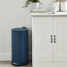 Contemporary Navy 30 Litre Pedal Bin
