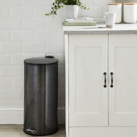 Contemporary Pewter 30 Litre Pedal Bin