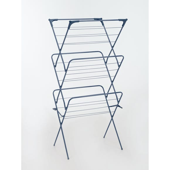 3 Tier Navy Indoor Clothes Airer Navy