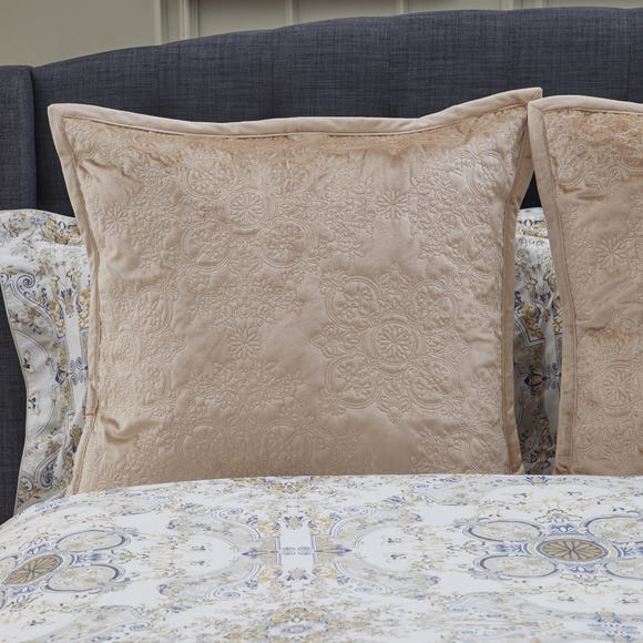 Dorma Arabesque Continental Square Pillowcase Natural