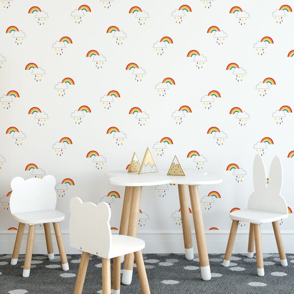 Rainbow Wallpaper Multicoloured