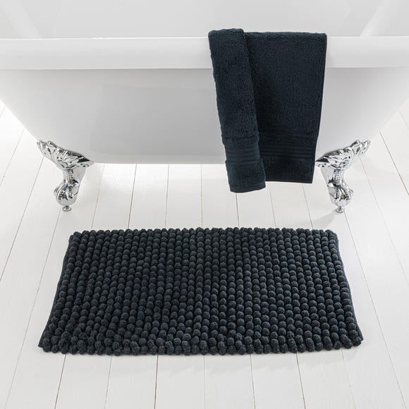 Pebble Black Bath Mat