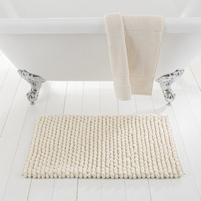 Pebble Cream Bath Mat