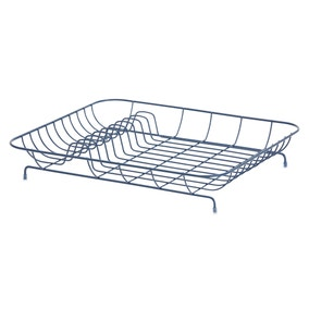 Wire Matt Navy Dish Drainer