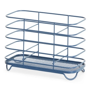 Wire Matt Navy Cutlery Drainer