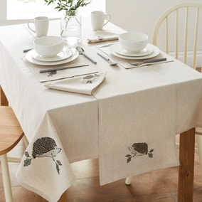 Hedgehog Embroidered Tablecloth