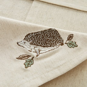 Set of 4 Hedgehog Embroidered Napkins