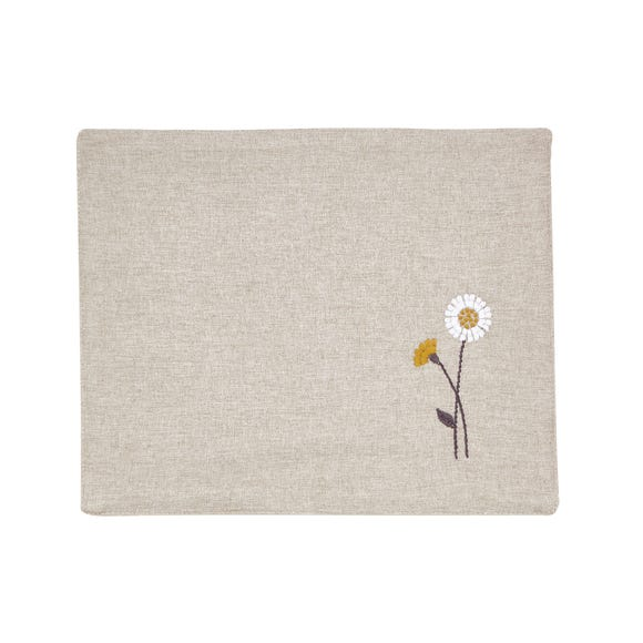 Scandi Floral Placemat Natural