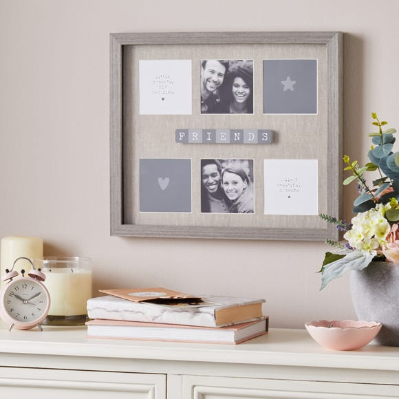 Best Friends Multi Aperture Photo Frame Grey