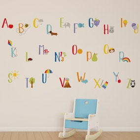 Rainbow Alphabet Wallstickers