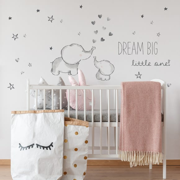 Tiny But Mighty Wall Stickers Grey