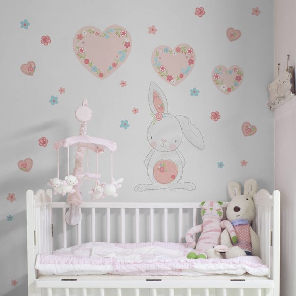 Pretty Little Bunny Wall Stickers Pink