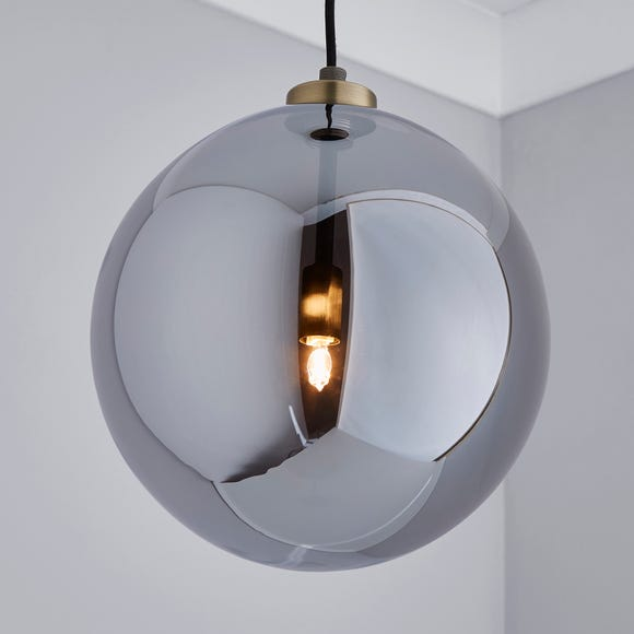 Tanner 1 Light Pedant Smoked Glass Ceiling Fitting Smoke (Grey)