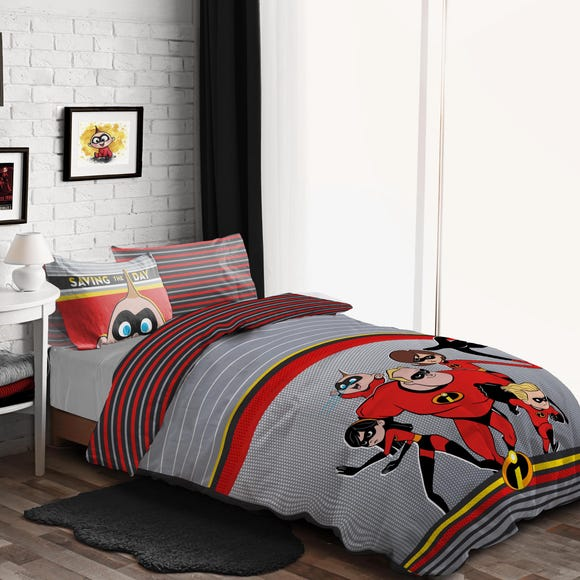 Disney Incredibles Duvet Cover and Pillowcase Set MultiColoured undefined